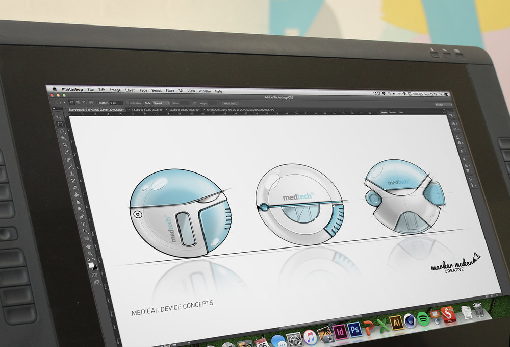 Wacom Tablet - digital concept visual