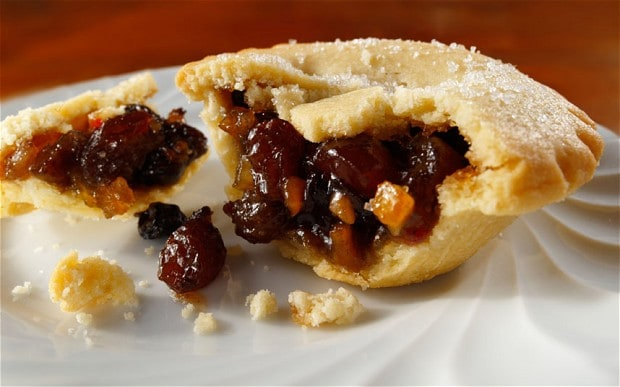 Ingredients:  350g (12 oz) high-quality mincemeat, 225g (8 oz) plain flour, 2 tablespoons caster sugar, 125g (4½ oz) unsalted butter, diced, 1 large egg, beaten, milk to glaze