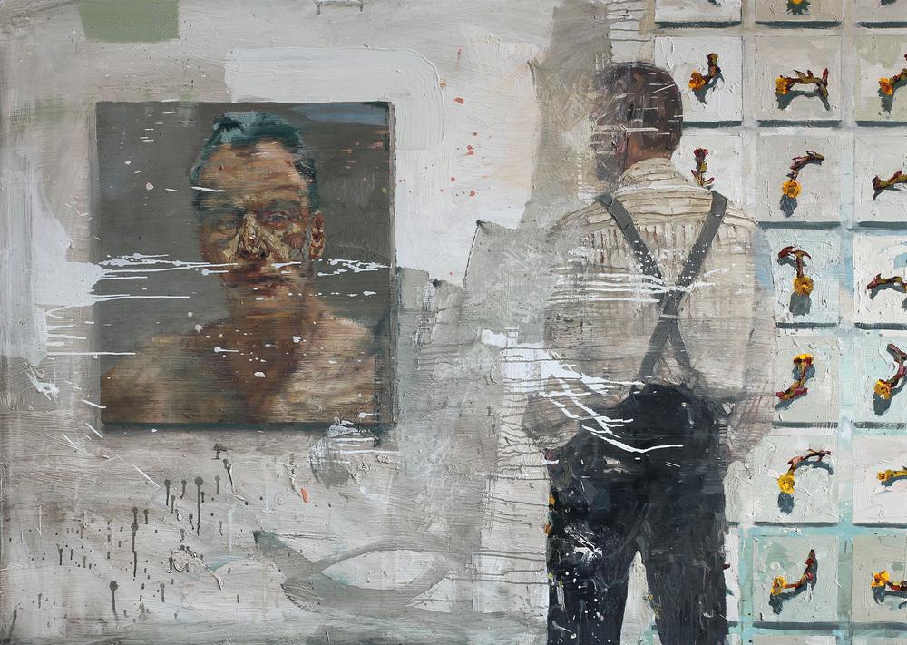Hommage Lucian II | 115x160 cm | Eggoljetempera | Privat eie
