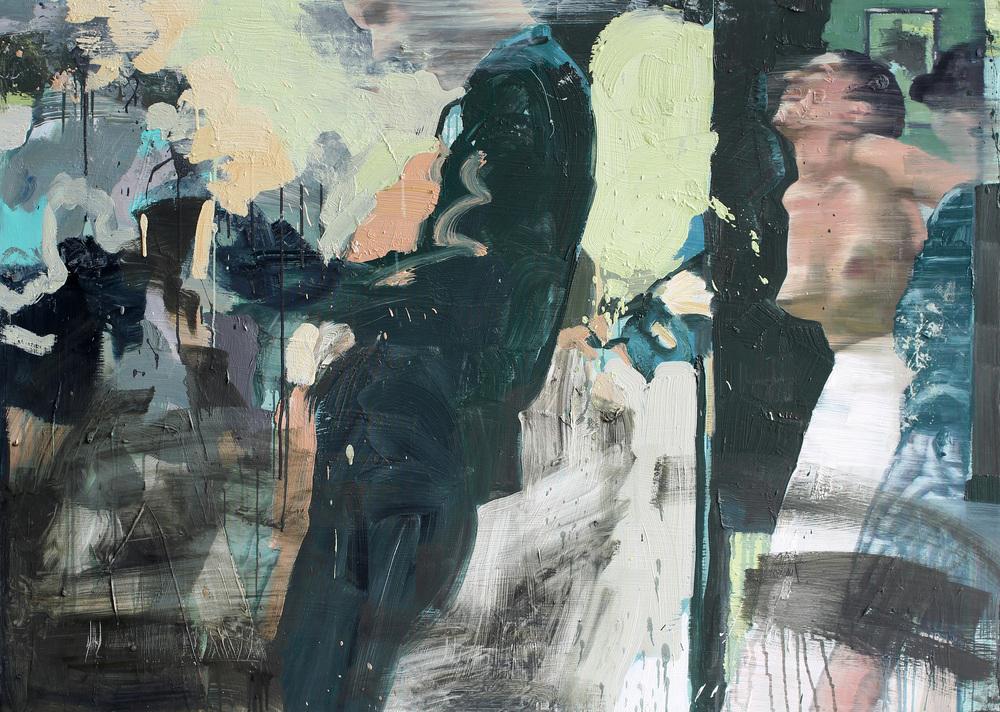 Malerens betraktninger | 115x160 cm | Eggoljetempera på lerret | Privat eie