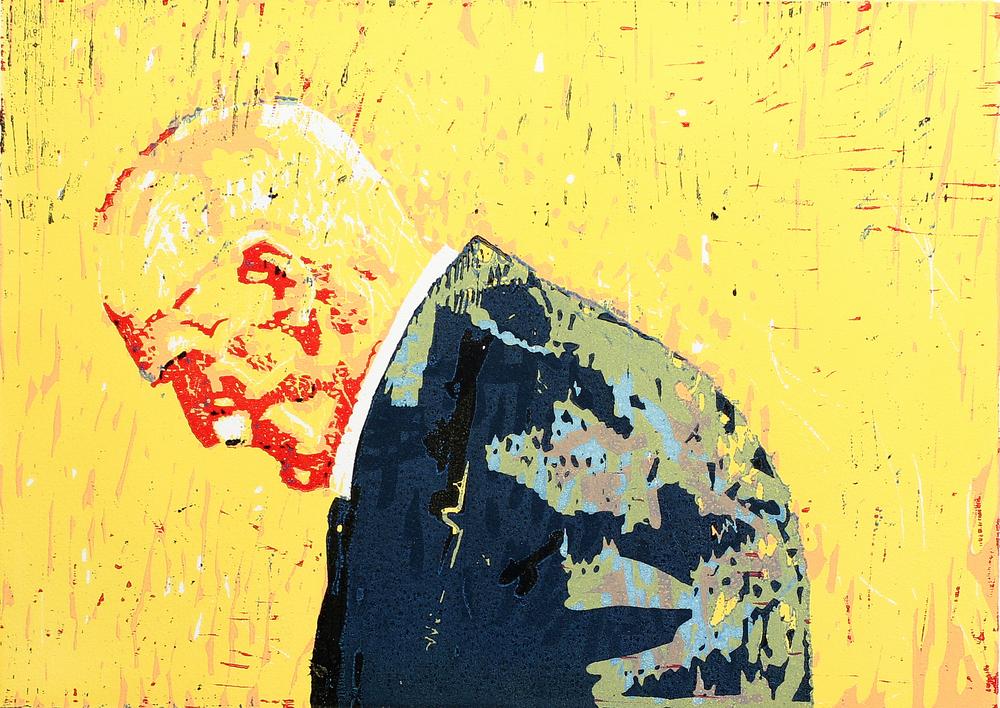 På gjengrodde stier | Tresnitt | 35x49 cm | Utsolgt