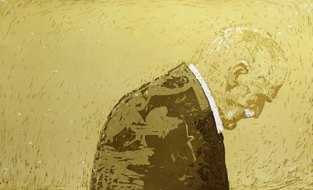På gjengrodde stier | Tresnitt | 55x90 cm | kr. 6 000,-
