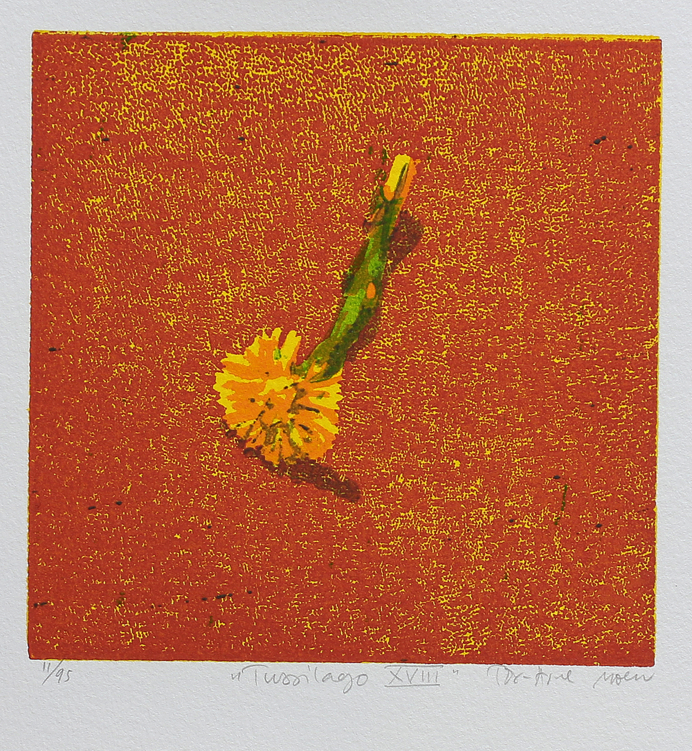 Tussilago XVIII | Tresnitt | 15x15 cm | kr. 600,-