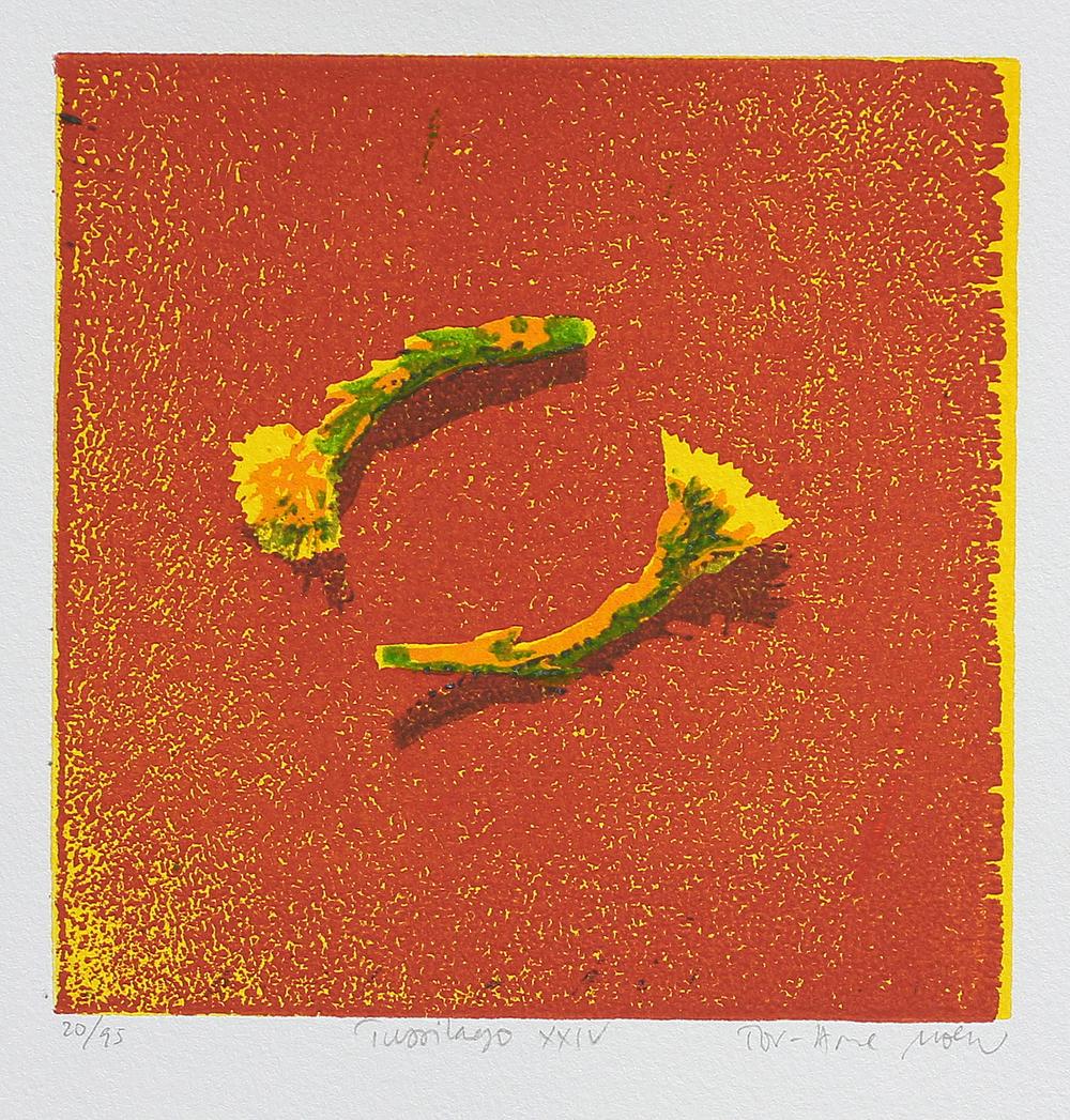 Tussilago XXIV | Tresnitt | 15x15 cm | kr. 600,-