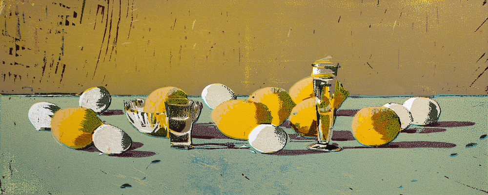 Sitroner | Tresnitt | 25x60 cm | kr. 3 000,-