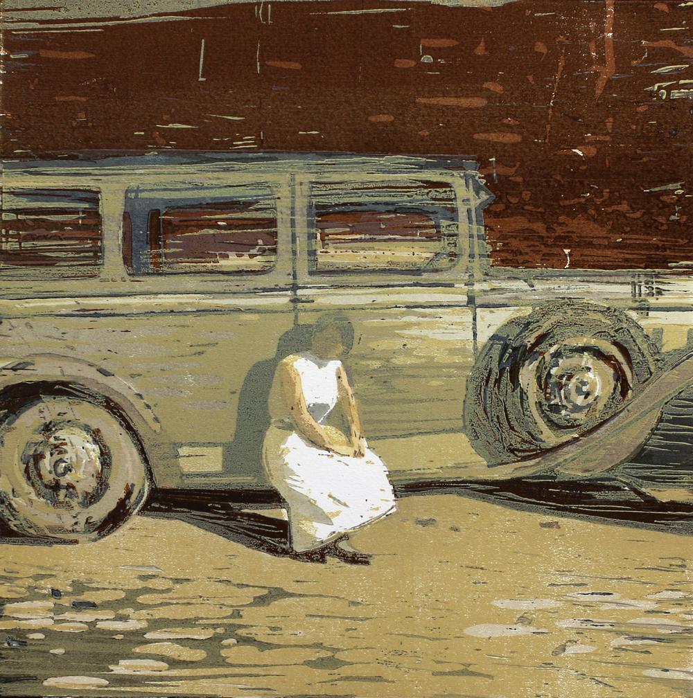 Sommeren 1934 | Tresnitt | 40x40 cm | kr. 3 500,-