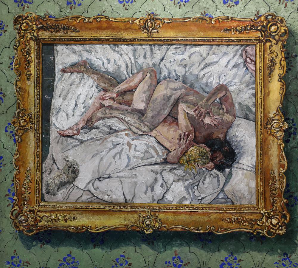 Maleriets opprinnelse | 190x210 cm | Olje på lerret | Privat eie
