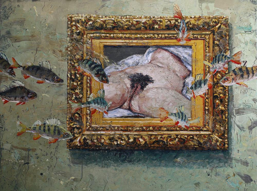 Hommage à Courbet | 120x160 cm | Privat eie