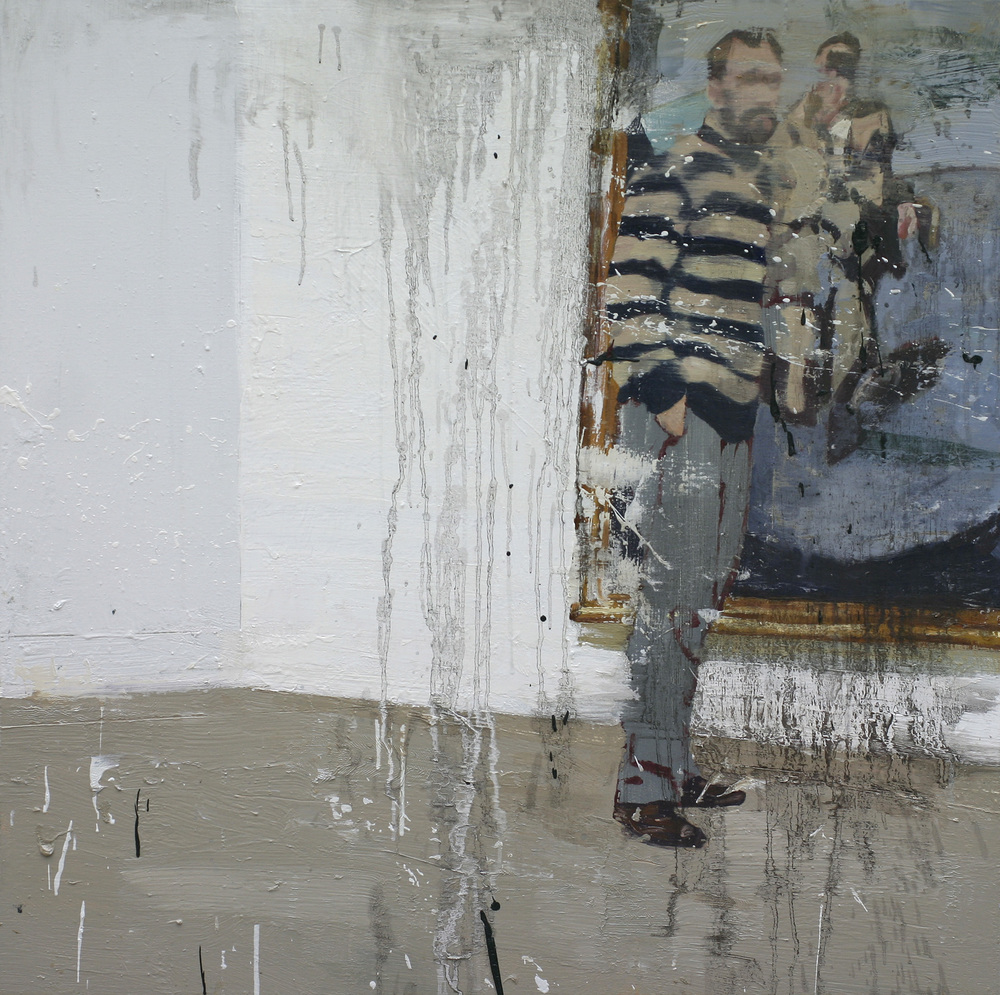 Lars kontemplerer Francis II | 100x100 cm | Eggoljetempera på lerret | Privat eie