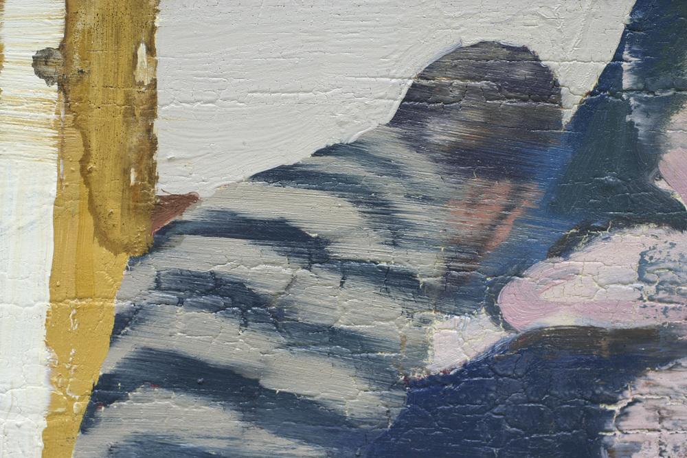 Lars kontemplerer Francis I ( utsnitt ) | 100x100 cm | Eggoljetempera på lerret | Privat eie