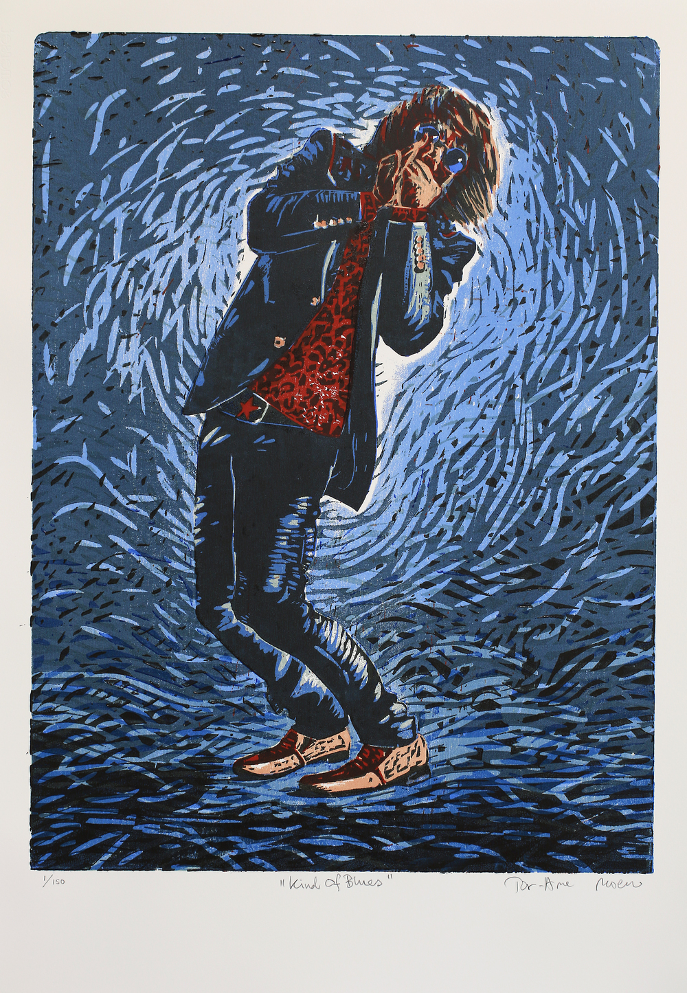 Kind Of Blues | kr. 5 300,- | Fargetresnitt med sju plater | 77x57 cm | 2016 | 150 eks.
