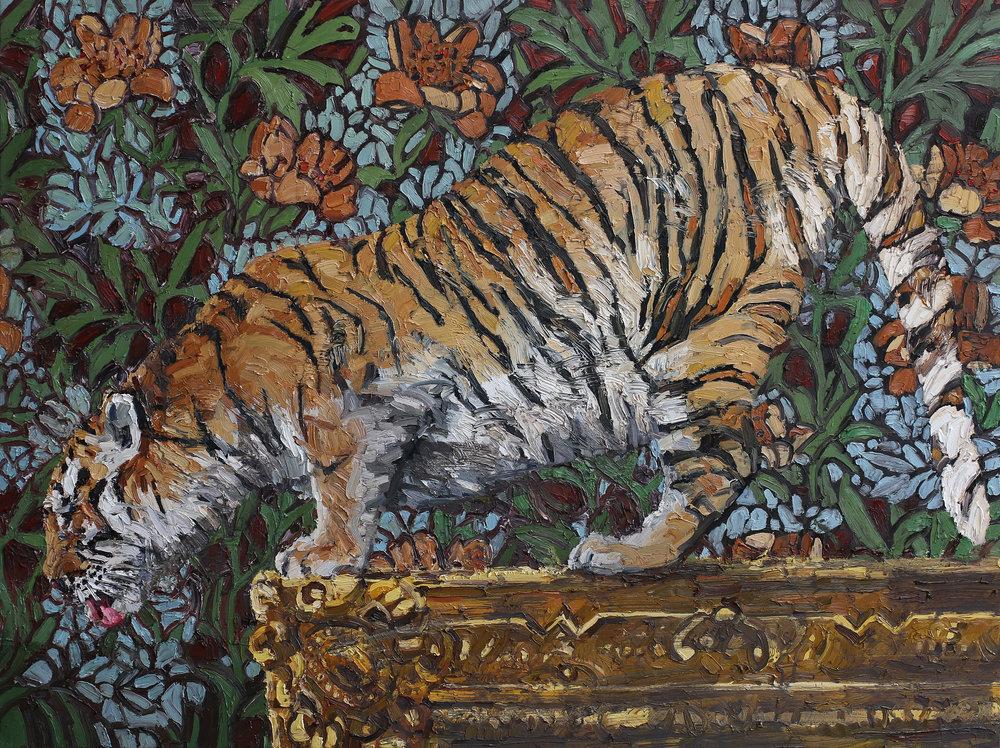 Panthera tigris | 120x160 cm | Olje på lerret | Privat eie
