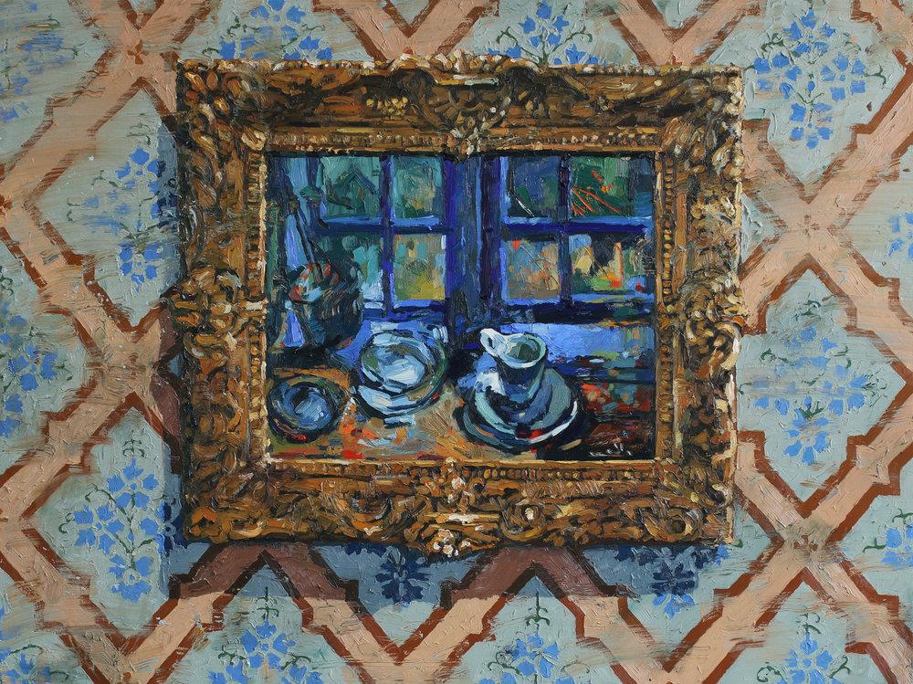 Homage à Ludvig Karsten | 120x160 cm | 0lje på lerret | Privat eie