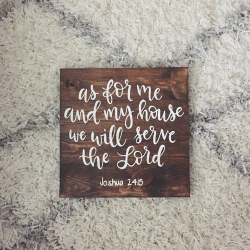 As For Me And My House Wall Art hand lettered as for me and my house, we will serve the lord — framed
