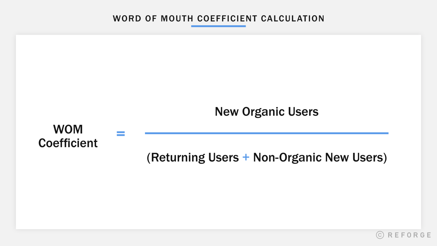 How to Calculate the Word-of-Mouth Coefficient
