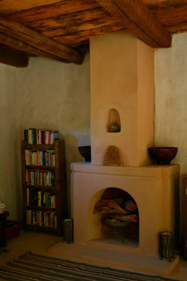 Wood fireplace
