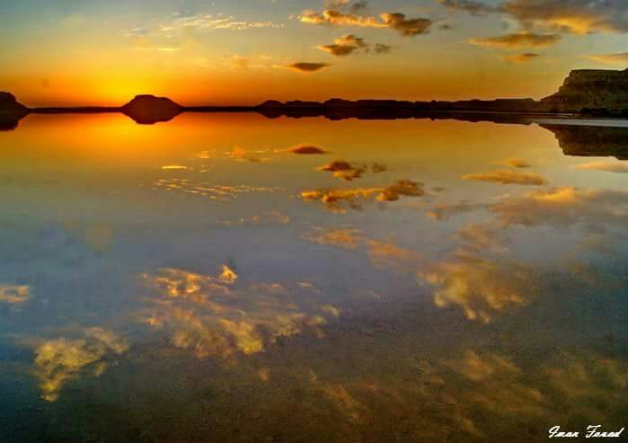 Salt lake of Siwa Oasis