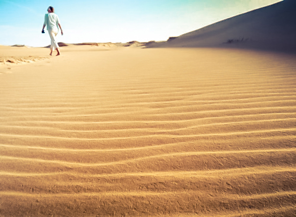 Walking in Siwa Oasis
