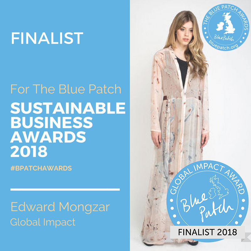 Blue Patch Sustainable Business Awards 2018, ( Category - Global Impac) www.bluepatch.org