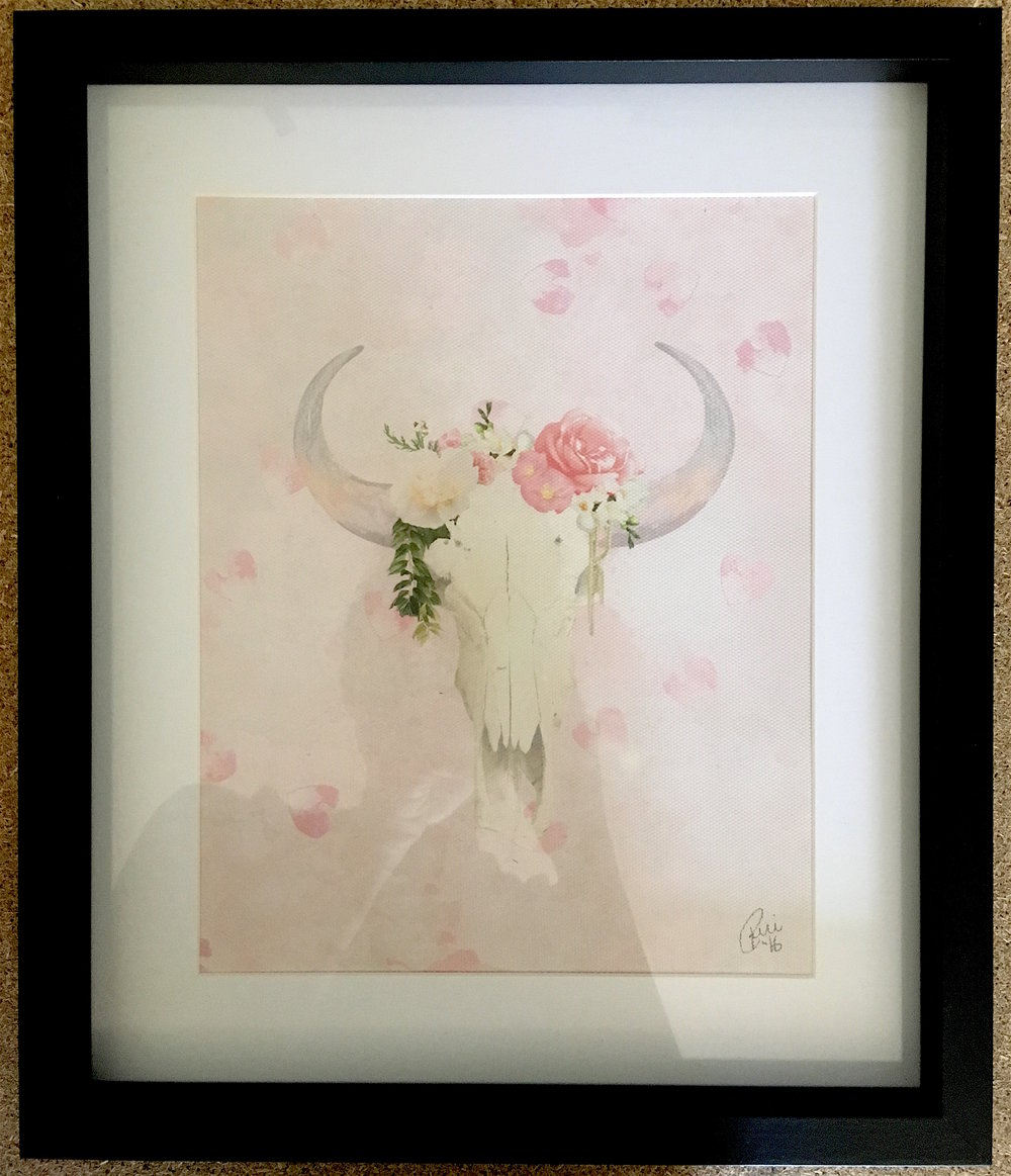 Romantic Boho Buffalo Pink