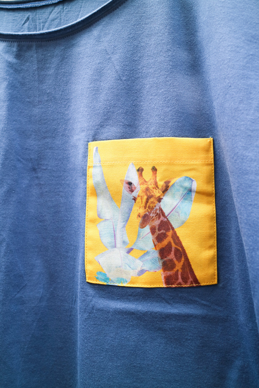 Denim T with Radiant Giraffe