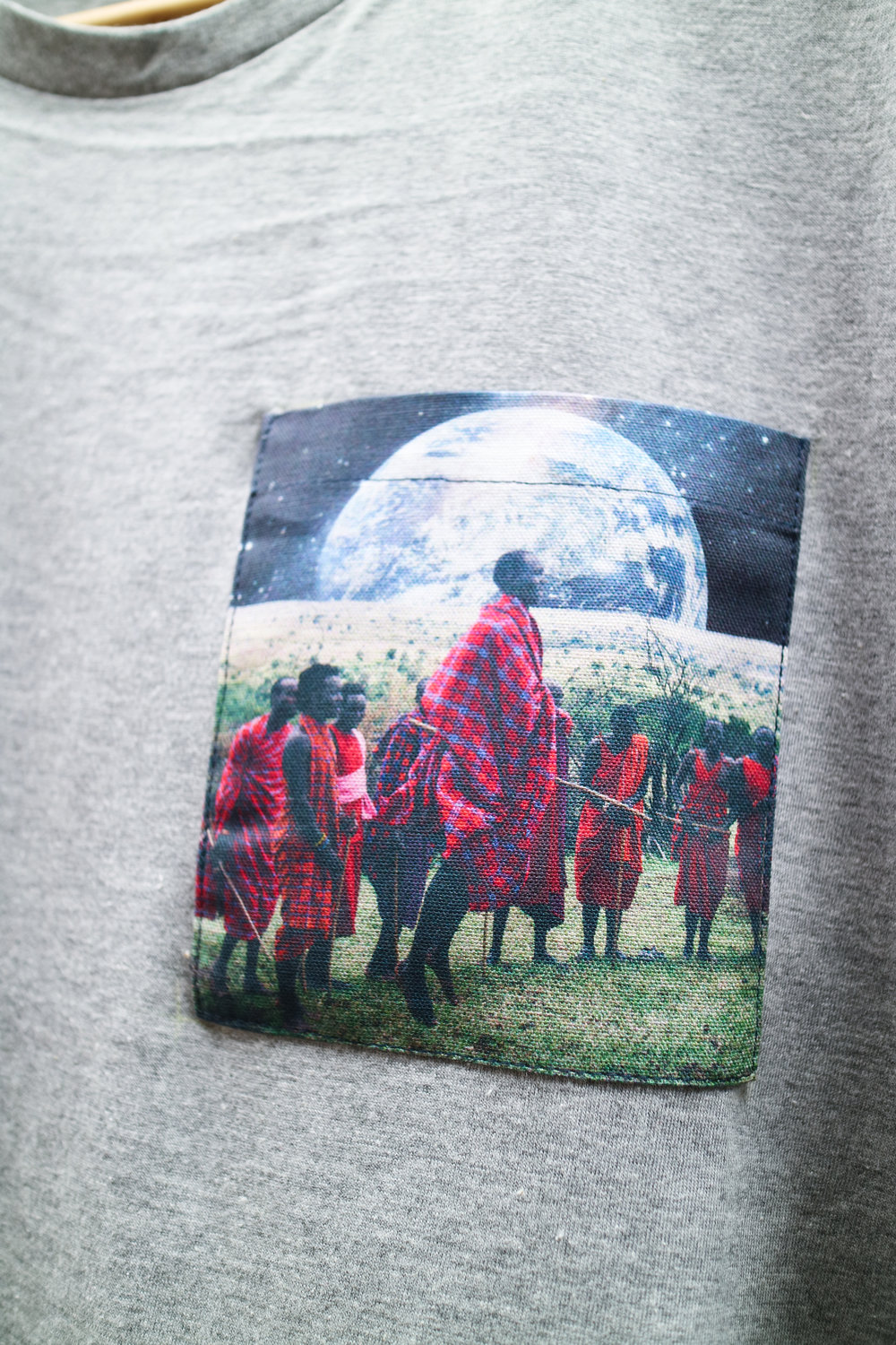 Grey T with Masai Earth