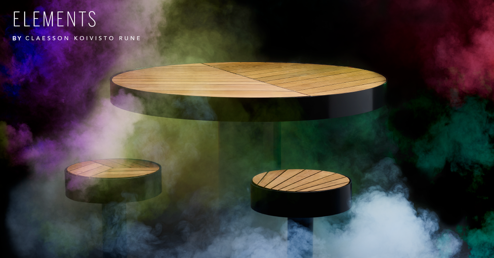 Table Stools public space Elements by Claesson Koivisto Rune