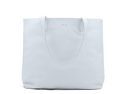 Cuyano Classic Leather Tote in Sky Blue