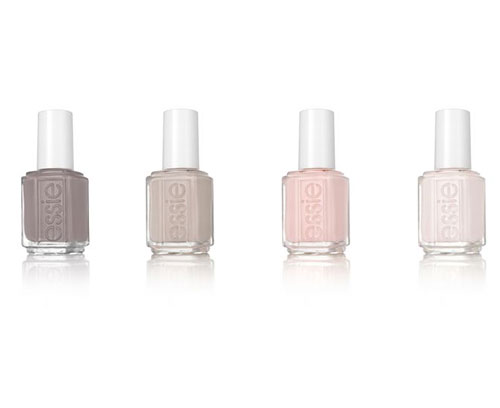 ESSIE TREAT LOVE & COLOR   Left to right: On The Mauve. Good Lighting, Pinked to Perfection, In A Blush