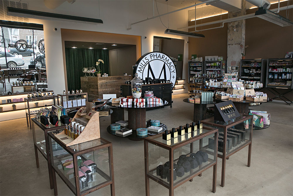 Mills Pharmacy + Apothecary  on Cass Avenue in Detroit