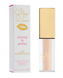 Sara's new  Plump & Prime  smooths and hydrates, making lips appear fuller seconds after application.