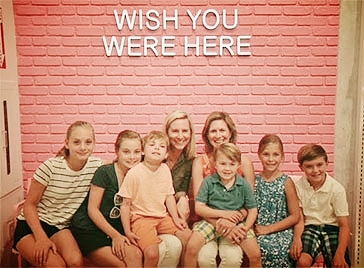 PYT Founders Mary Schulman (left) and Amy Carr with their children.