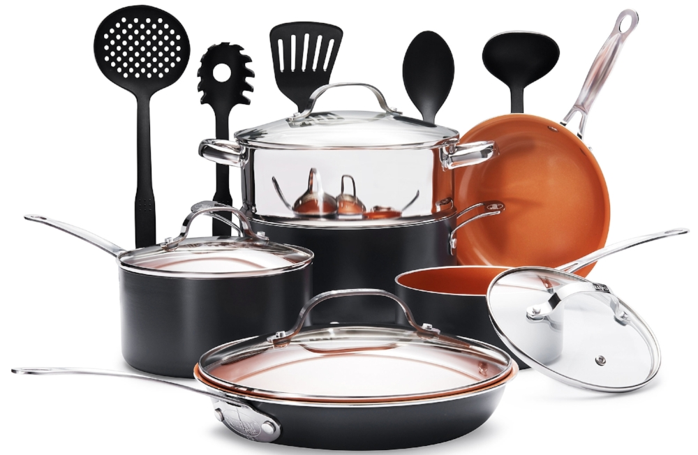 The Gotham Steel 15 pc Set (pictured above).