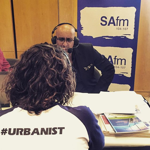 Bjala founder and CEO Jay Maia talking with @safmradio @ashrafgarda about profit with purpose, live at the Africa Shared Value Summit.  #sharedvalue #ASVS17 #profitwithpurpose #bjala