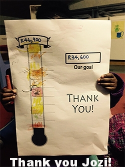 Joburg, you are amazing! - TOGETHER we reached, nay EXCEEDED our crowdfunding target of R34,600 to build Jeppe ECD a classroom for winter! R46,900 has been received in cash and pledges PLUS a fridge was donated too which will come in very handy!!Thank you to everyone who so generously contributed