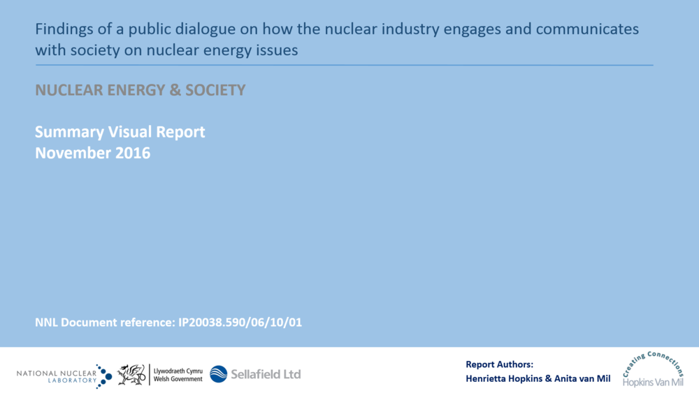Nuclear Energy & Society - National Nuclear Laboratories, the Welsh Government & Sellafield Ltd