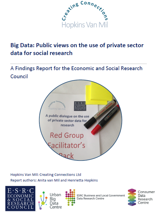 Big data: Public views on the use of private sector data for social research: - A findings report for the Economic & Social Research Council