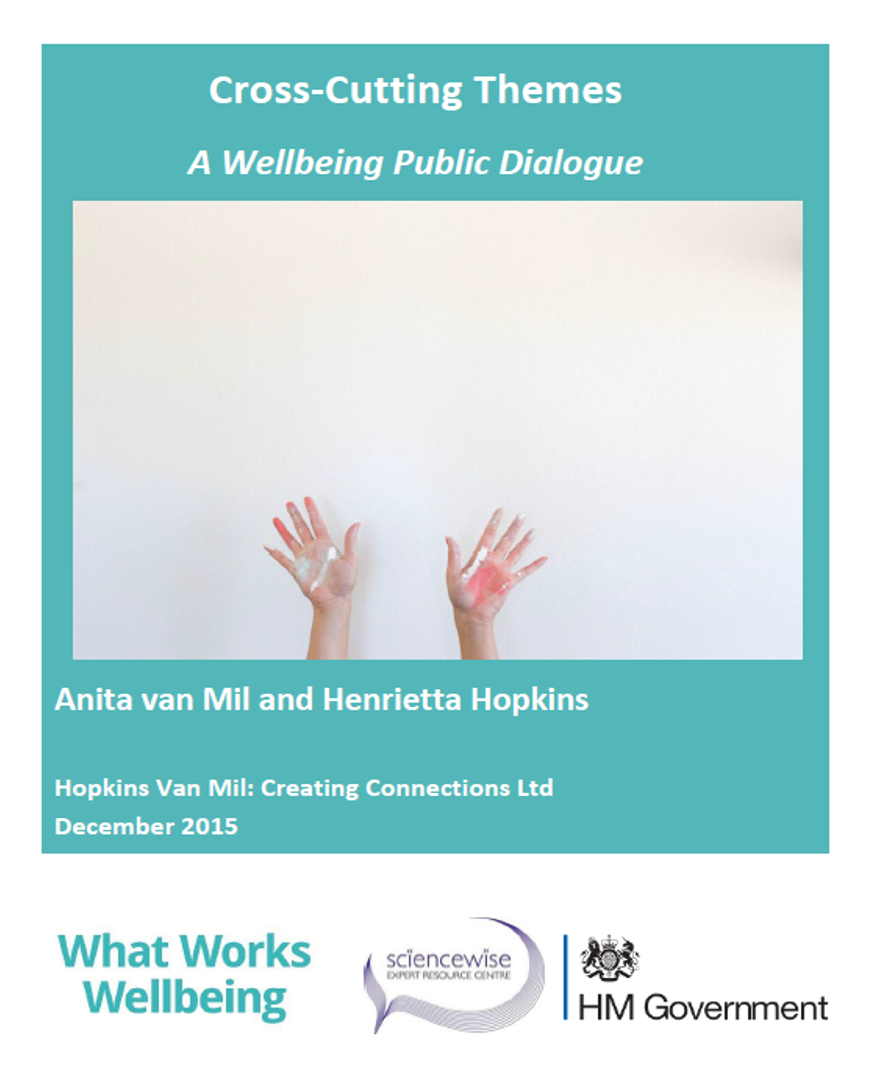 Wellbeing: Cross-cutting themes - A Sciencewise public dialogue for the What Works Centre for Wellbeing
