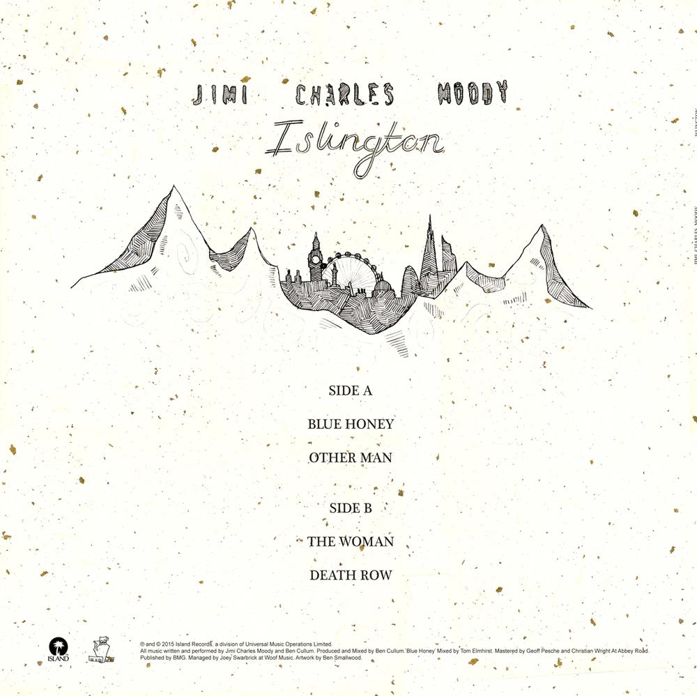 'Islington' EP Artwork (back). 2015.