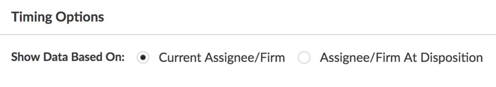 Juristat Business Intelligence Timing Options Toggle