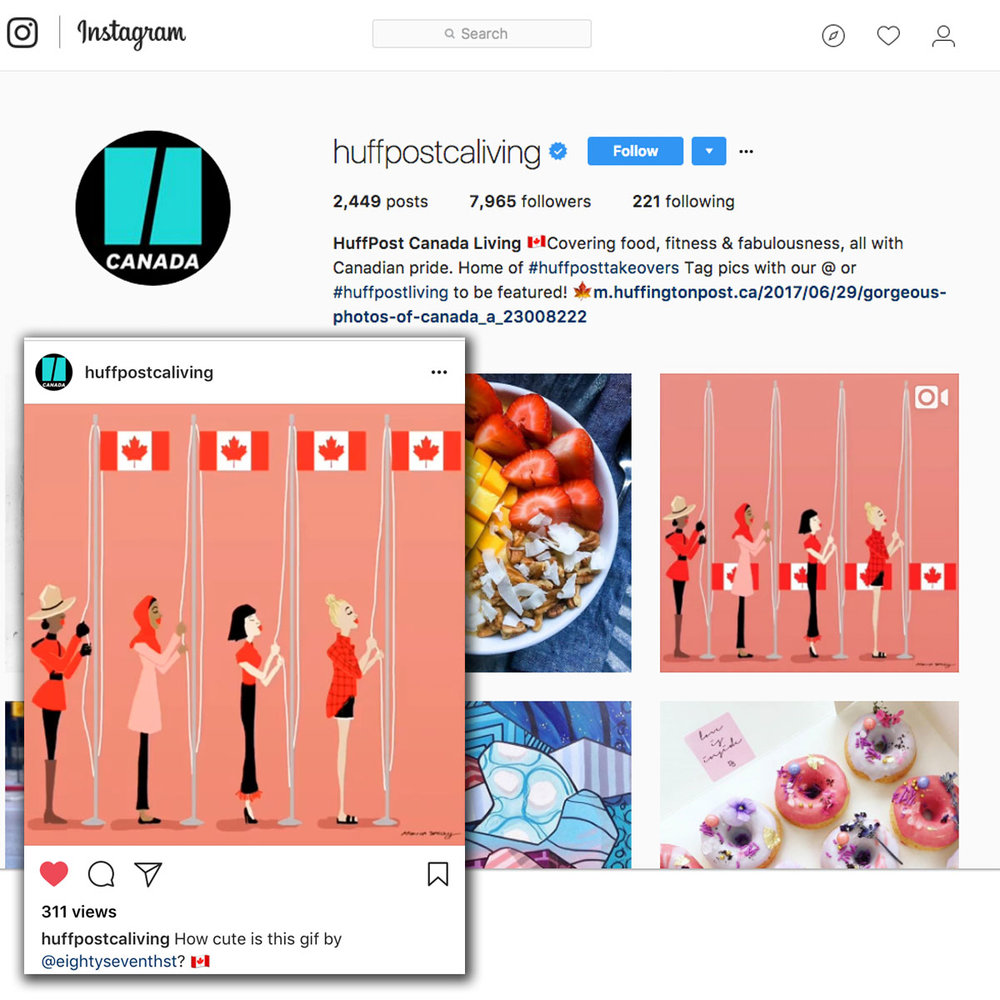 Huffington Post Instagram | July 2017