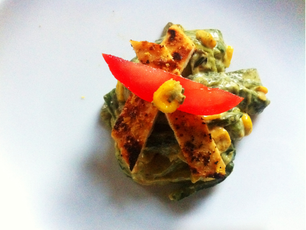 rajas with tofu