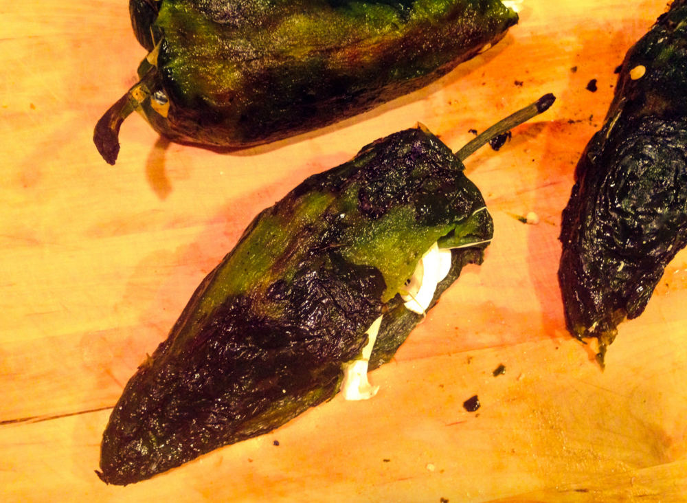 roasted stuffed chile relleno
