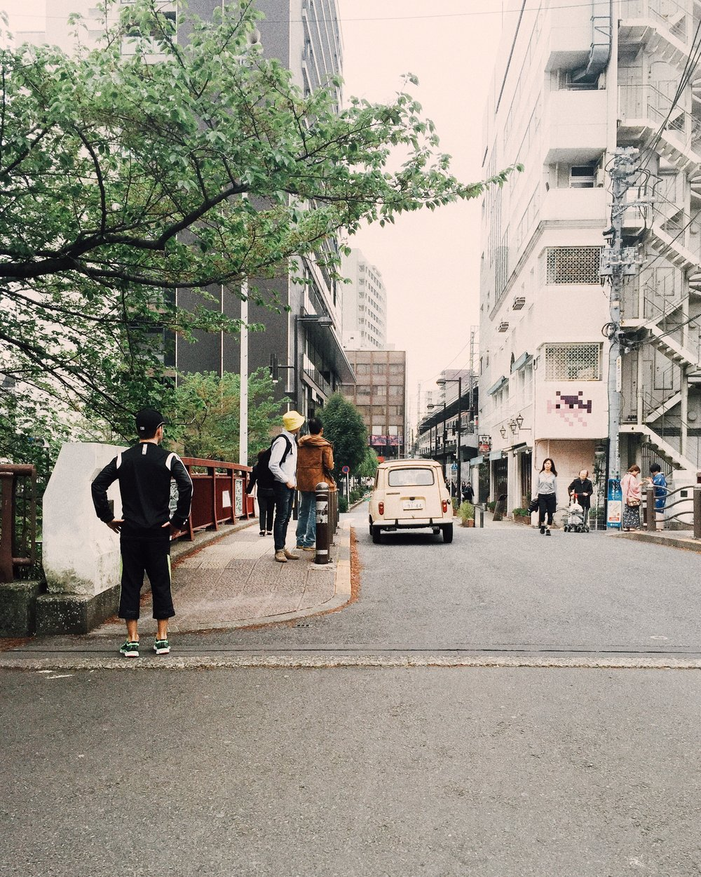 Derek and my father. Nakameguro, Spring 2015.
