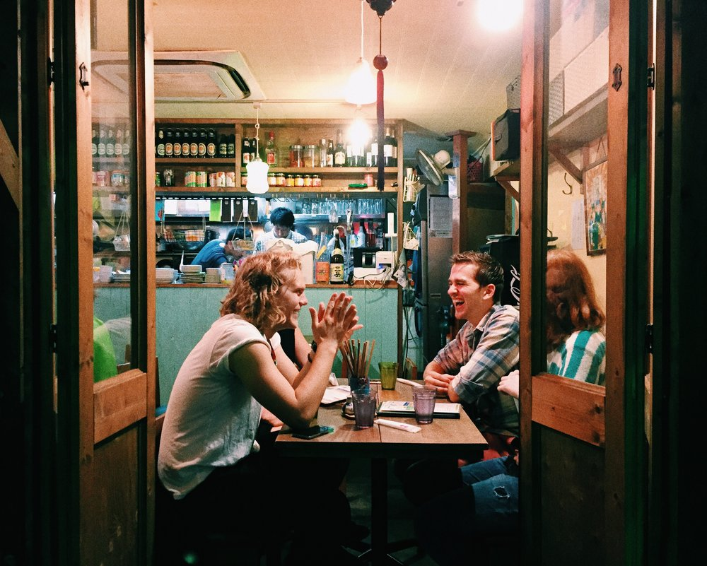Johan, George and Anna. Kichijoji, Summer 2015.