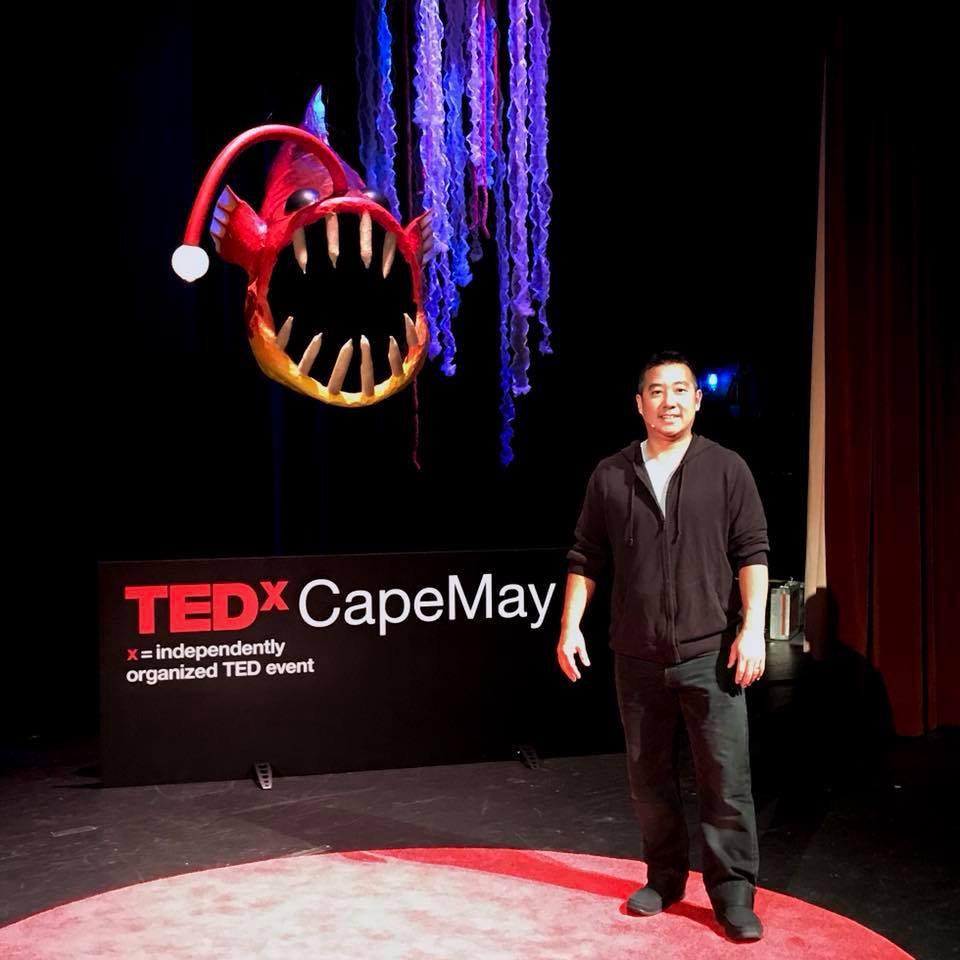 On stage at TEDx Cape May for my rehearsal