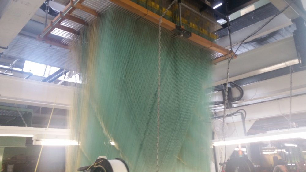 One of Gainsborough's Jacquard Looms creates a sea of colour