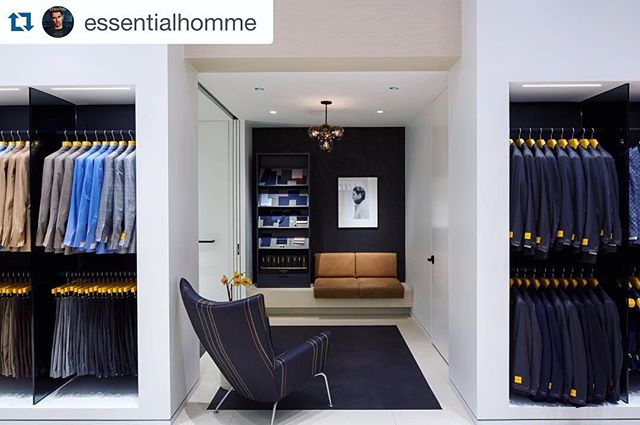 Thanks for the love, @essentialhomme! #HickeyFreeman opens a new concept boutique at New York's #BrookfieldPlace, balancing craftsmanship with modern technology in an array of innovative fabrics, unsurpassed customer service, and brand-new in-store programming. More @ EssentialHommeMag.com. #menswear