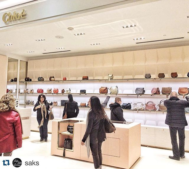 Thanks @saks! If you're in Toronto, check out our @chloe shop in shop!  • • • • • • • • • • • • • • • • • • • • • • • • • • • • Attention #ChloeGirls: Our new @chloe shop on the main floor of @saks_sherwaygdns is calling your name. Pay our new #Toronto store a visit and step inside handbag heaven. #SaksCanada