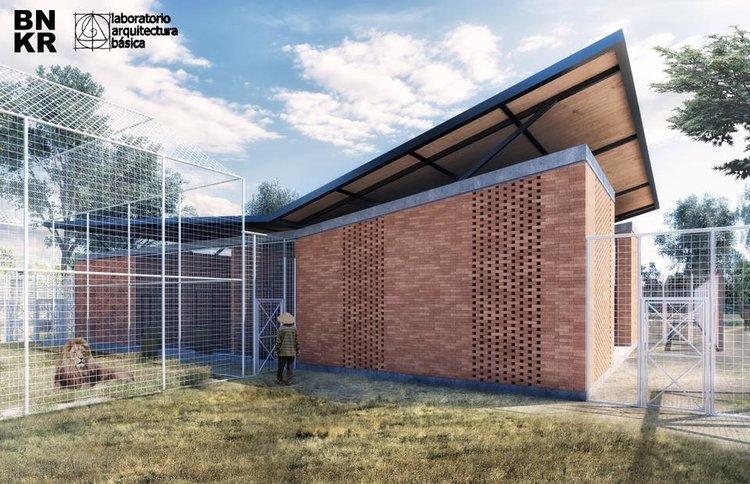 September 30, 2016  Nuevo Proyecto: Santuario de AnimAlex  Estamos trabajando en un nuevo proyecto junto con Juan Casillas de Laboratorio de Arquitectura Basica cerca de la ciudad de Puebla. Es un santuario para el rescate y rehabilitación de felinos y osos en situación de maltrato, negligencia o abuso. Mas informacion pronto
